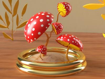 The mushroom ui illustration design ux