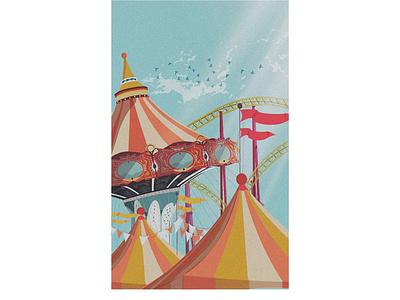 Carousell adobe print sky colors ux graphic building vector illustration design illustrator carousel
