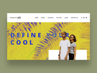 Coolfiner Website Concept