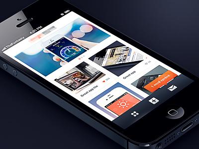 Secret app UI iphone ux ui mobile ios design app gallery simple the funtasty tooltip