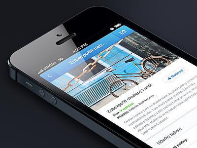 Announcement Detail iphone ux ui mobile ios design app detail the funtasty dark