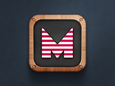 Game icon iphone blackboard key app design ios mobile application icon wood icon the funtasty