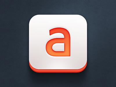 Secret app icon (WIP) the funtasty icon application icon mobile ios design app orange iphone