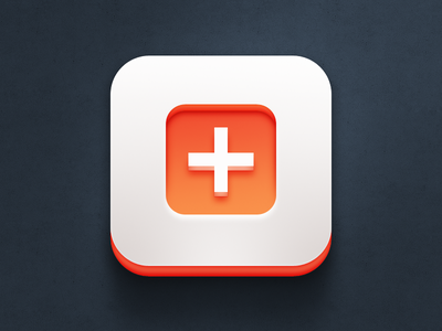 Secret app icon v2 iphone orange app design ios mobile application icon icon plus the funtasty