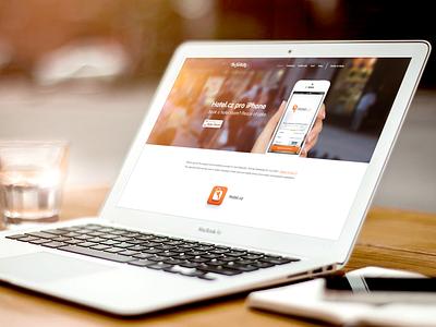 Website for Hotel.cz app the funtasty icon hotel application icon mobile ios design app key orange iphone website