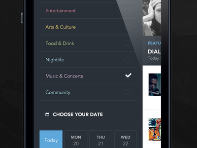 Web app [WIP] the funtasty side menu settings app design ios mobile ui ux dark iphone