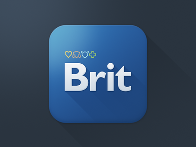 Brit icon [WIP] the funtasty icon application icon mobile ios design app blue brit iphone application