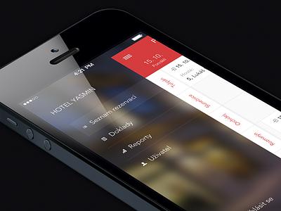 Previo iphone dark ux ui mobile ios design app side menu the funtasty ios7 previo