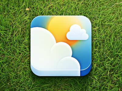 Weep icon app design ios mobile icon weep weather cloud sun sky iphone the funtasty