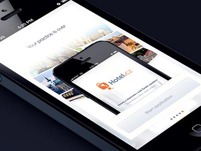 Hotel.cz Tutorial UI iphone the funtasty hotel tutorial app design ios mobile ui ux popup