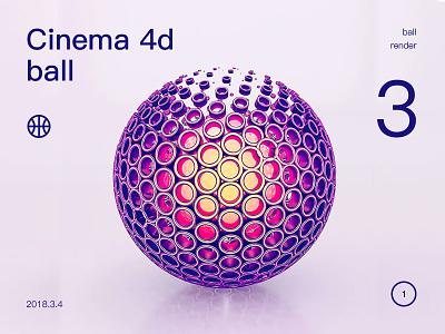 cinena 4d ball render ball
