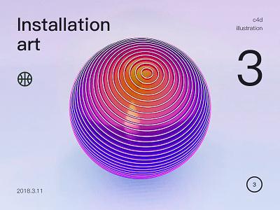 new installation art render c4d installationn