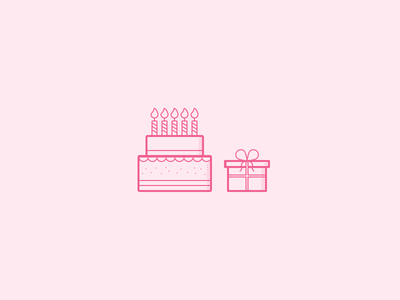 Birthday, invite giveaway and freebie birthday dribbble invites cake gift pink giveaway