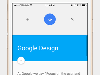 Chrome iOS Pull to reload pull to refresh ios chrome app prototype motion refresh toolbar google material