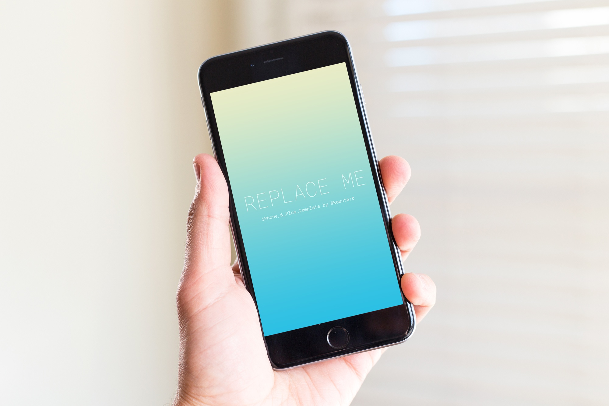Iphone 6 plus template