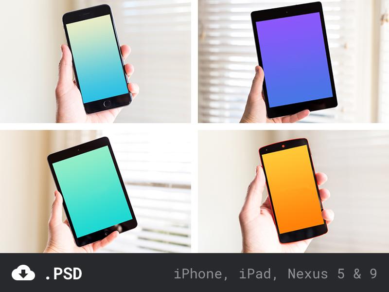 Device Templates placeholder photo apple android nexus 9 nexus 5 ipad iphone template device
