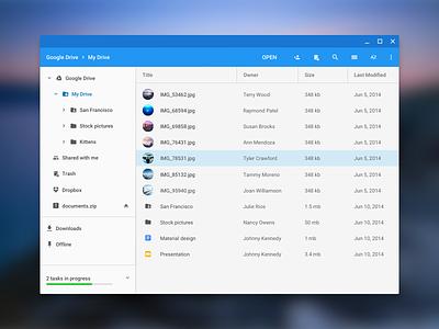 Chrome Os Files app files app material design desktop chrome os