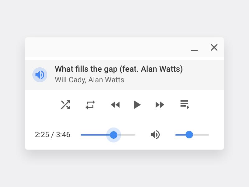 Chrome OS Audio Player by Sebastien Gabriel on Dribbble
