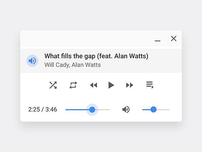 Chrome OS Audio Player material google ux ui media player music desktop