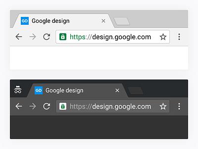Chrome desktop Material Design button tab desktop interface browser ui chrome google