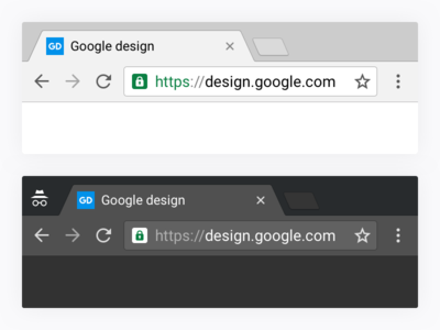Chrome desktop Material Design