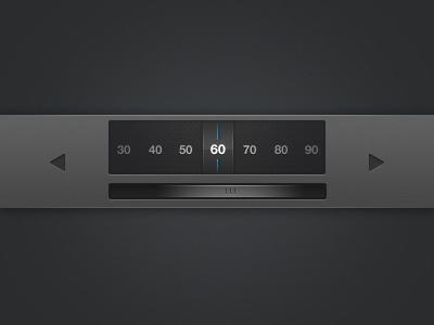 Little Selector ui interface blue black frey slider element
