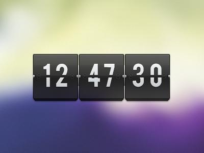 Tranparent flip clock