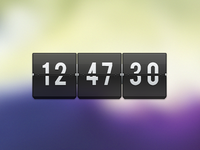 Transparent Flip Clock