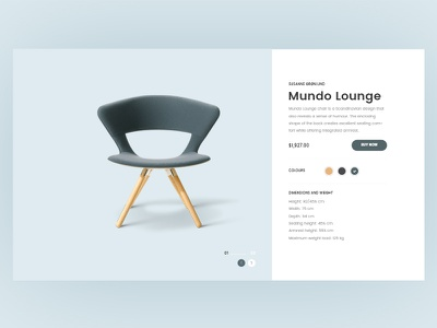 Product Details Page web site ux user interface design user experience ui furniture product detail page ecommerce