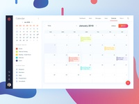 Dashboard - My Calendar | Monthly View