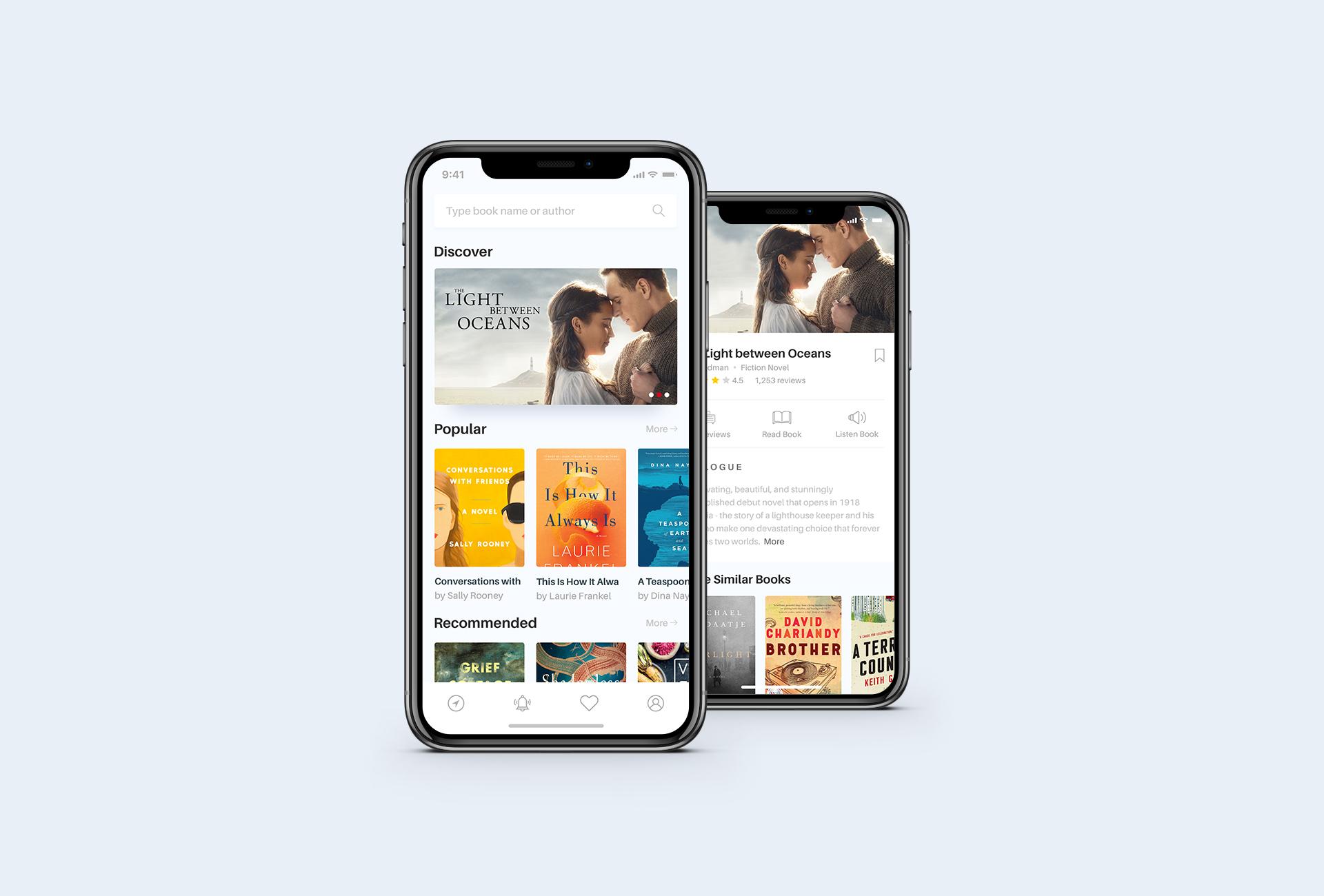 Book app concept  white ver