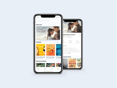 [FREE DOWNLOAD] Book App Concept Project - Home & Detail Page mobile app design mobile app free download ui design reading app book app mobile