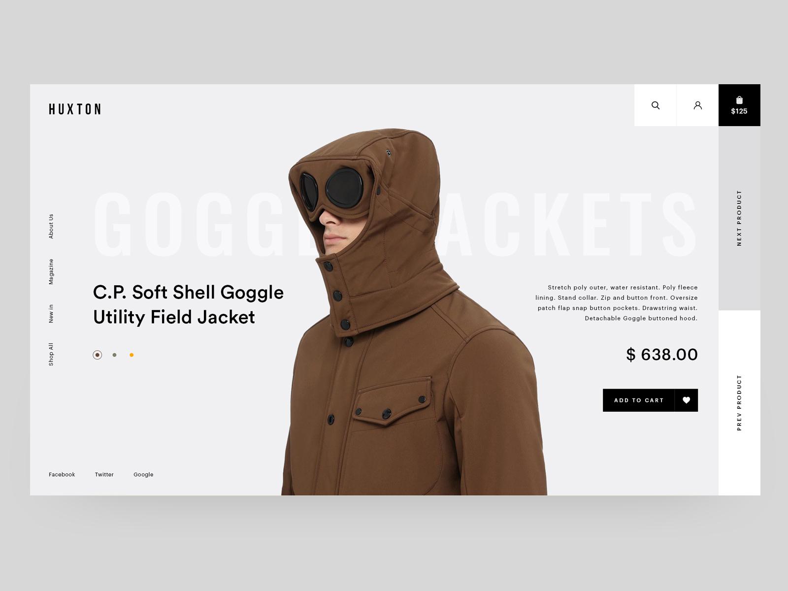 The huxton hero concept for fashion