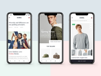 Ocolus-Multi Purposes Woocommerce Theme for Mobile plant ocolus furniture market creative  design theme for wordpress theme forest theme theme design wordpress design design creative wordpress typography fashion minimal multipurpose ecommerce ux ui