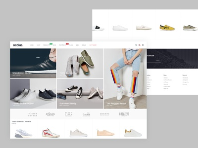 Ocolus Amazing E-Commerce Woocommerce Theme market minimal branding hero area theme for wordpress theme design wordpress blog theme wordpress design theme forest creative  design typography wordpress ocolus creative footwear multipurpose minimal design ecommerce ux ui