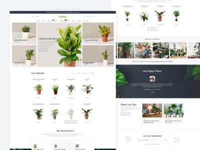 Ocolus Multi Purposes Woocommerce Theme slider creative website web design theme forest theme for wordpress theme design wordpress development wordpress design creative  design plant ocolus wordpress multipurpose minimal typography design ecommerce ux ui