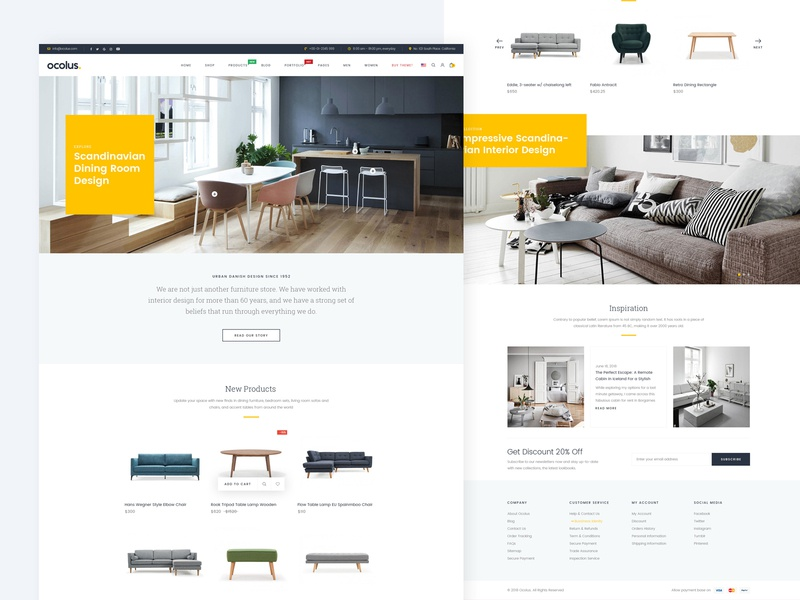 Ocolus Multi Purposes Woocommerce Theme theme page template theme for wordpress theme forest theme design wordpress development wordpress design wordpress blog theme logo creative multipurpose typography design ocolus furniture wordpress minimal ecommerce ux ui