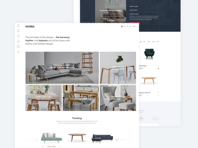 Ocolus Multi Purposes Woocommerce Theme animation wordpress development branding typography decor creative  design wordpress design theme design theme for wordpress theme forest ocolus creative furniture wordpress multipurpose design minimal ecommerce ui ux