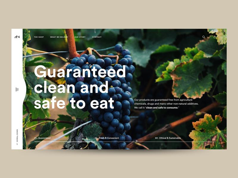 The Huxton Hero Concept vegetables vegetable food healthy wordpress ecommerce design ecommerce ui  ux hero section minimal typography ui design uiux ui