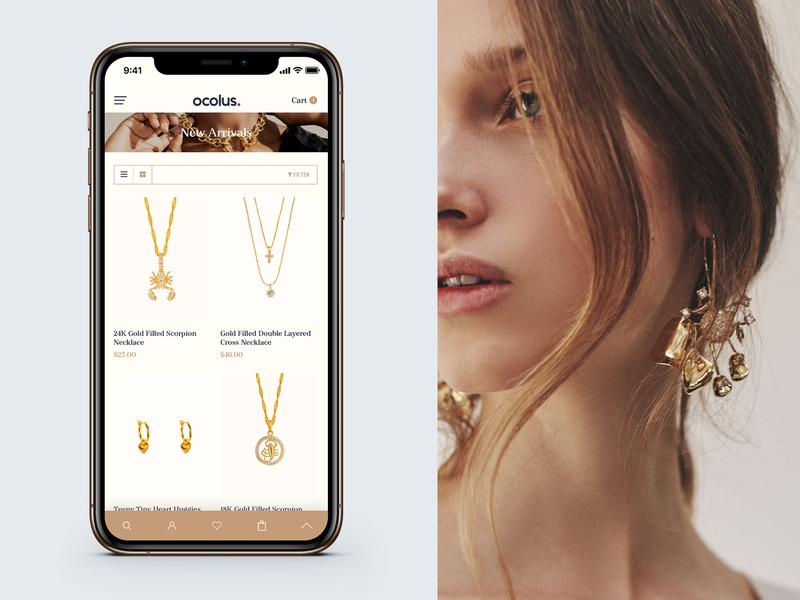 Mobile Concept - Ocolus Multi purposes woocommerce creative ocolus multipurpose minimal typography design ecommerce ux ui