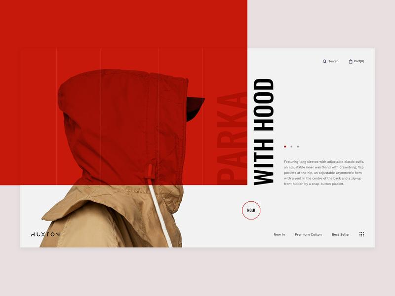 The Huxton Concept for fashion design multipurpose creative hero slider slider huxton fashion minimal typography ecommerce ux ui