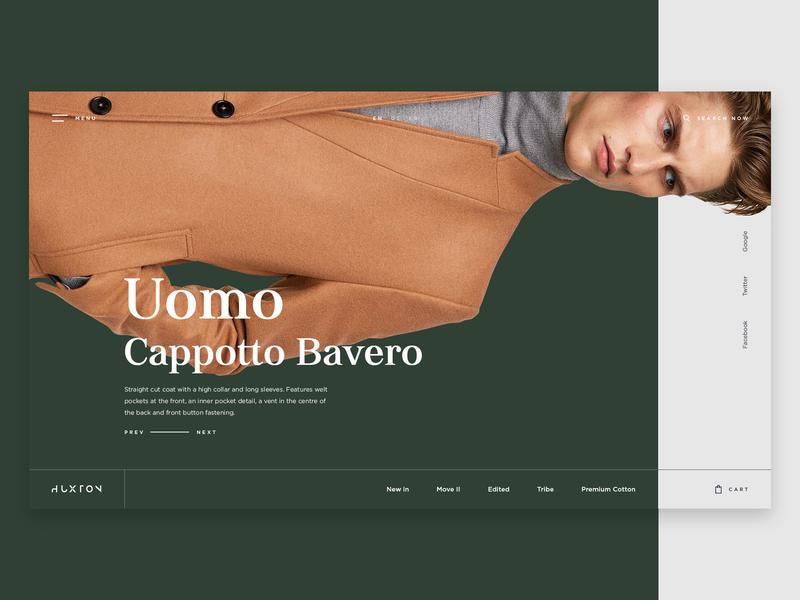 The Huxton Concept for Fashion hero slider slider creative theme forest wordpress fashion minimal design ecommerce ux ui