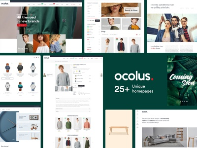 Ocolus - Amazing E-Commerce  WordPress Theme theme for wordpress multipurpose ocolus theme forest wordpress fashion minimal typography design ecommerce