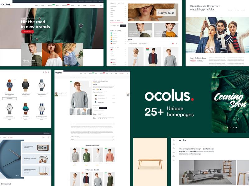 Ocolus - Amazing E-Commerce  WordPress Theme theme for wordpress multipurpose ocolus theme forest wordpress fashion minimal typography design ecommerce
