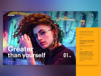 The Huxton Concept Hero Slider theme for wordpress wordpress ecommerce creative hero slider hero image multipurpose minimal typography design ux ui