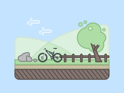 Windy Cycling cycling lakes vector line icon bike climacons