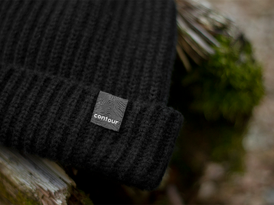 Contour Winter Hat contour hat winter trawler label woven head outside woods