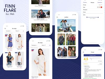 Finn Flare finnflare ecommerce fashion design ux ui mobile app mobile