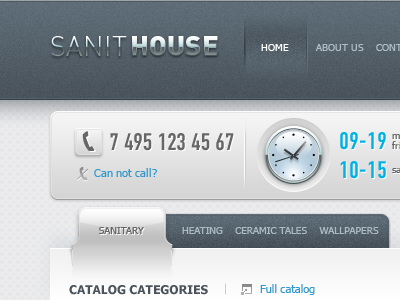 Sanithouse taipandesign website design web web design interface gui button gray dipixel