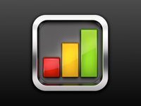 Graph icon for iPhone app